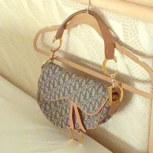 Christian Dior Monogram Weave Canvas Saddle Bag